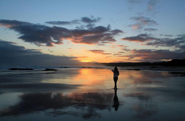 Beautiful Brighton Beach, Dunedin, New Zealand