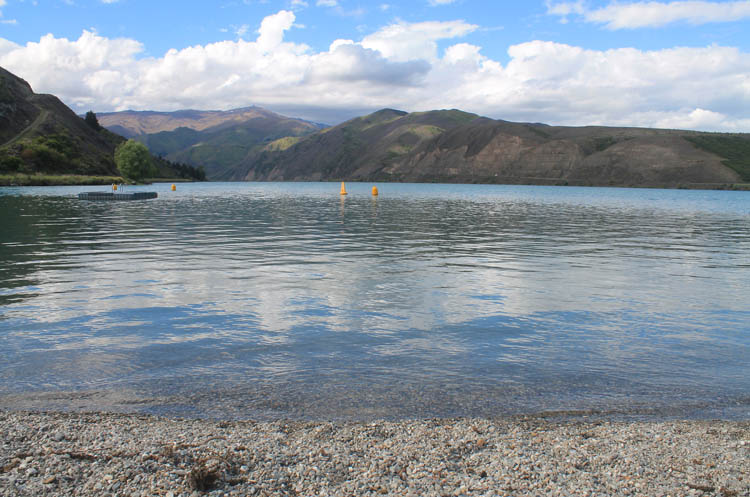 Clyde travel guide, Central Otago, New Zealand -- a stony beach near town