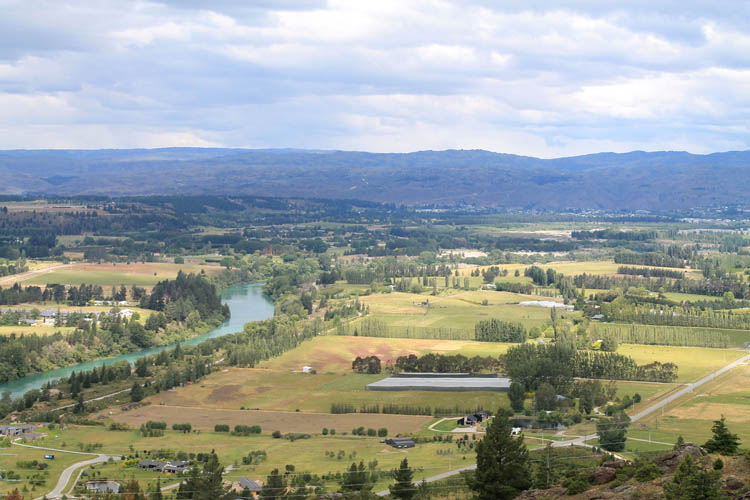 Clyde travel guide, Central Otago, New Zealand -- Central Otago from above