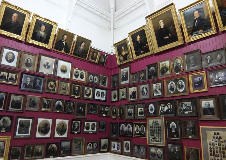 Otago Settlers Museum room of portraits
