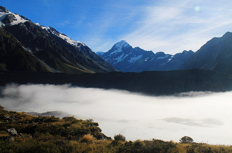 The view of Mount Cook from the Kea Point Track, Mount Cook National Park, New Zealand
