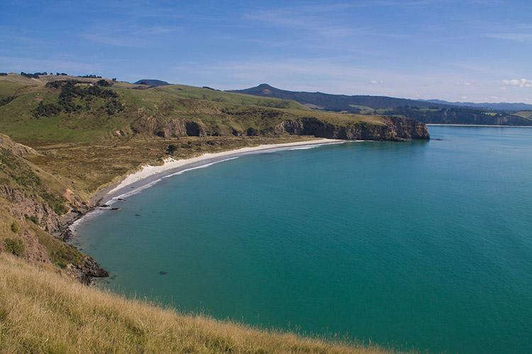 Kaikai Beach from Heyward Point, Dunedin, New Zealand
