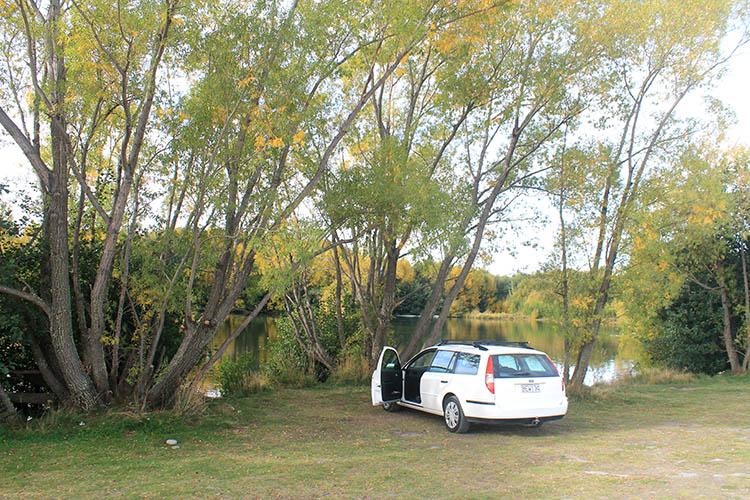 Freedom camping near Mount Cook at Lake Poaka -- near Twizel, New Zealand
