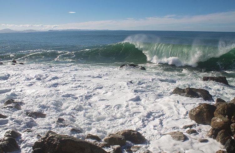 Massive waves at Aramoana Mole, Dunedin, New Zealand