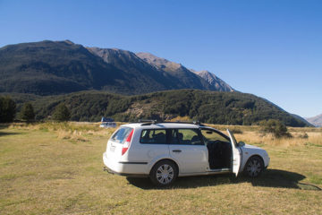 Freedom camping in Arthur's Pass National Park, New Zealand