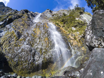 The hike to Earland Falls, Fiordland National Park, New Zealand