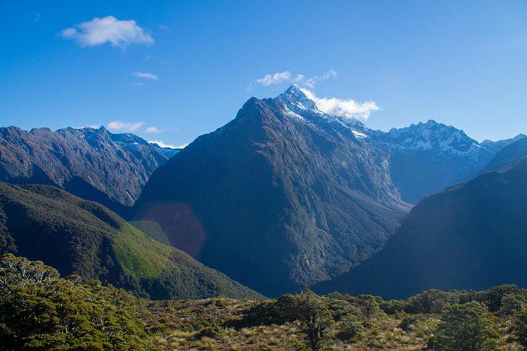 Hiking to Key Summit, Fiordland, New Zealand