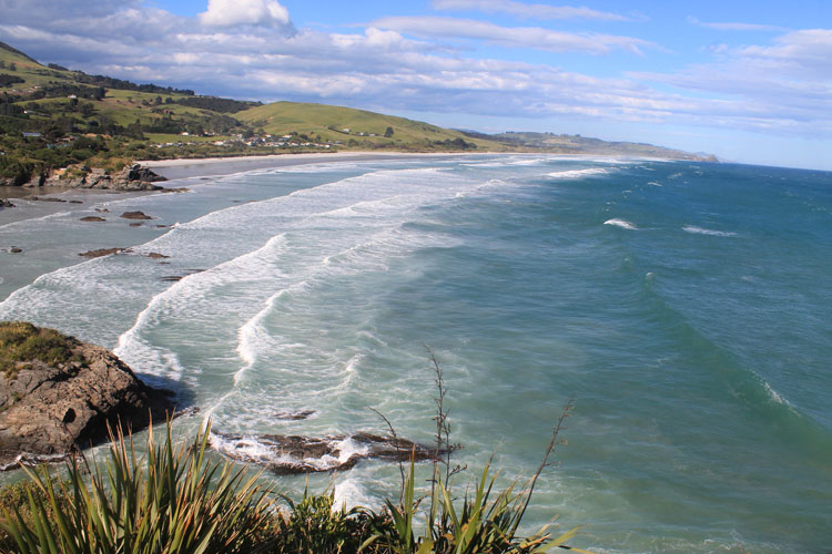 A viewpoint at Brighton Beach, Dunedin, New Zealand