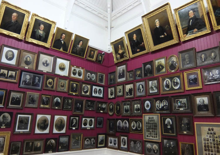Otago Settlers Museum room of portraits