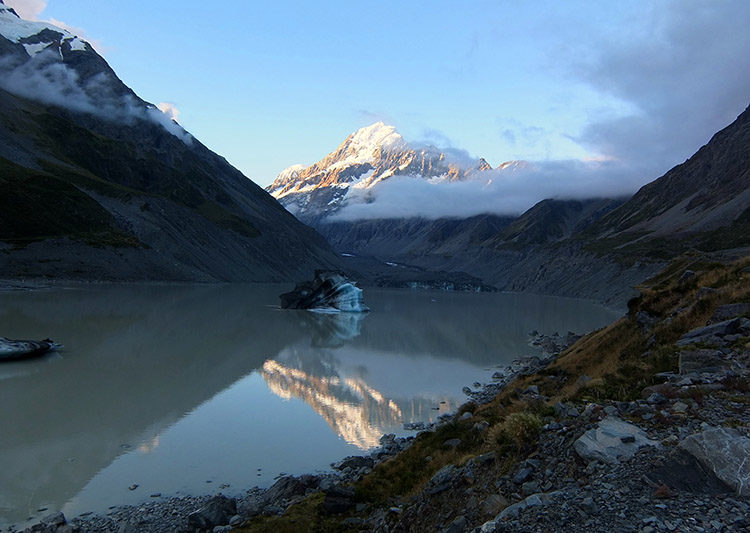 Hiking the Hooker Valley Track, Mount Cook National Park, New Zealand
