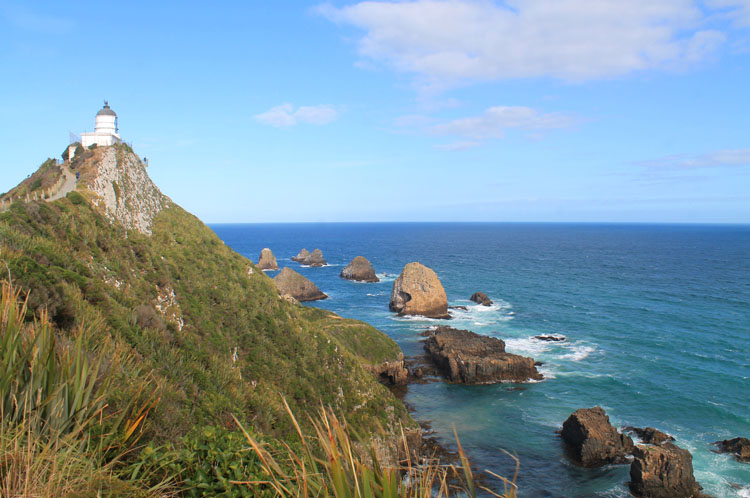 Nugget Point lighthouse, the Catlins, New Zealand