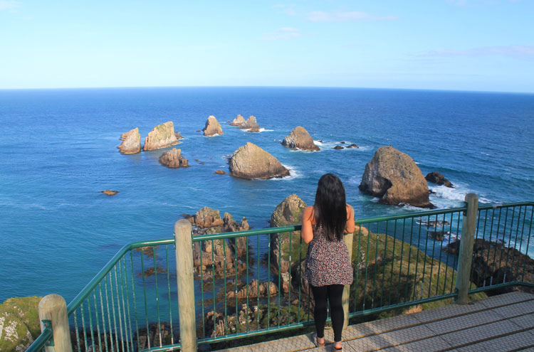 Photographing Nugget Point, New Zealand