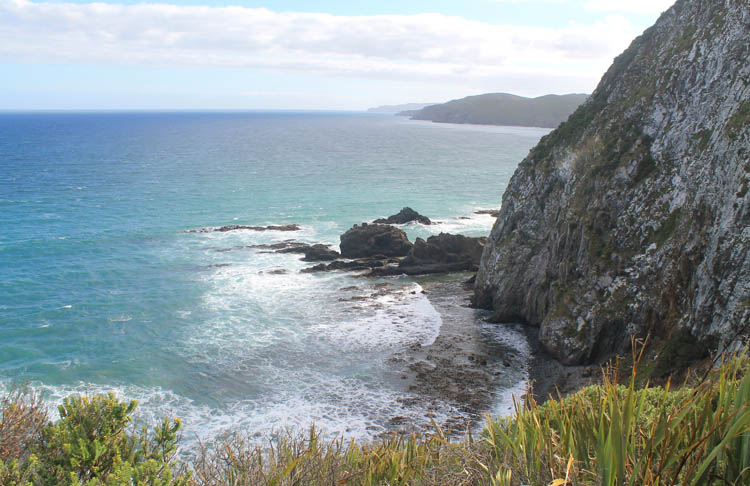 Beautiful coastal scenery near Nugget Point, the Catlins, New Zealand