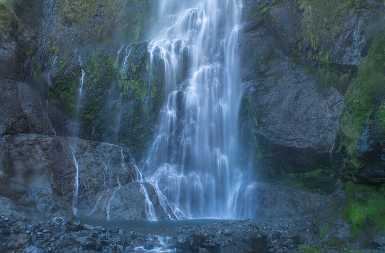 Getting up close to Devil's Punchbowl Falls, Arthur's Pass National Park, New Zealand
