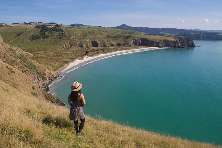 Hiking to Heyward Point, Dunedin