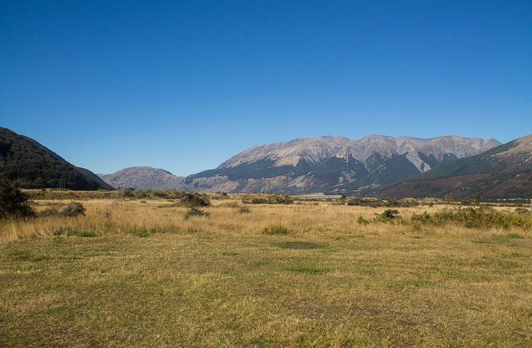 Freedom camping in Arthur's Pass National Park -- Klondyke Corner Campsite