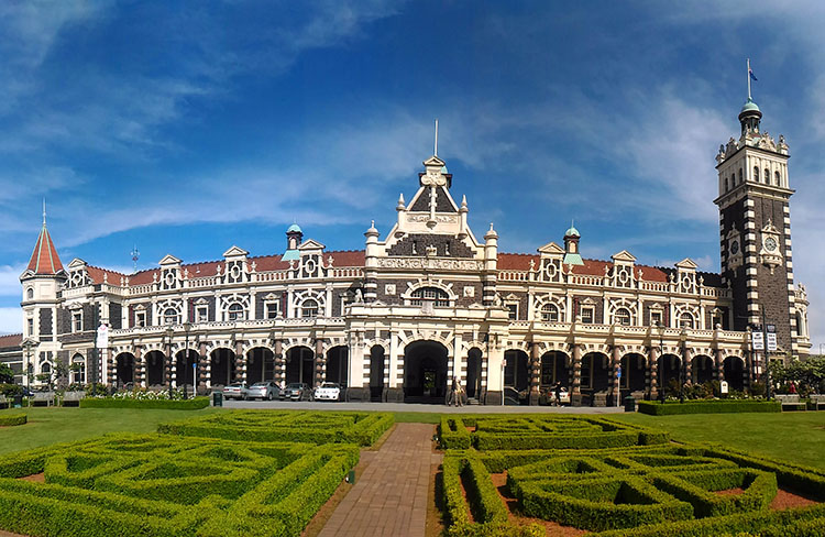 The Dunedin Railway Station, New Zealand