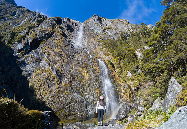 Earland Falls, the Routeburn Track, New Zealand