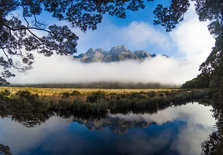The Mirror Lakes, South Island, New Zealand