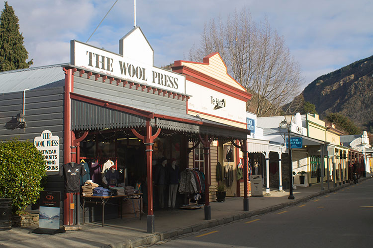 Historic shops in Arrowtown, New Zealand