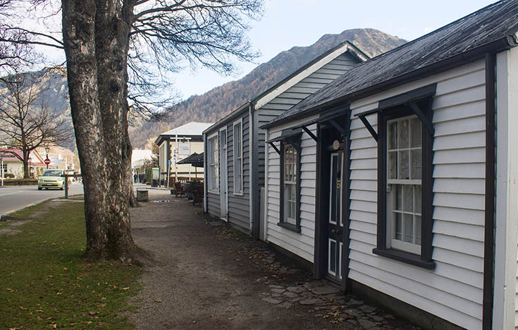Historic houses in Arrowtown, New Zealand