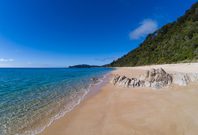 Beautiful Goat Bay, Abel Tasman Coastal Track, New Zealand