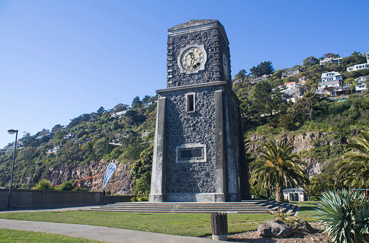 Clock tower, Sumner Beach, Christchurch, New Zealand