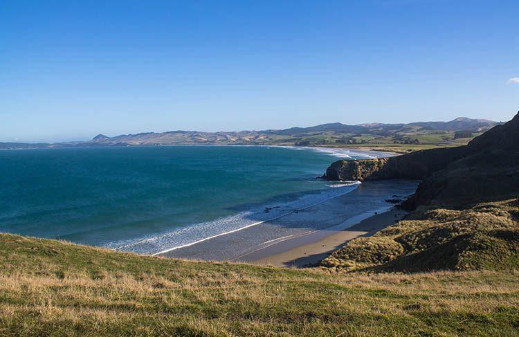 Kaiktiki Beach, Dunedin to Oamaru, New Zealand