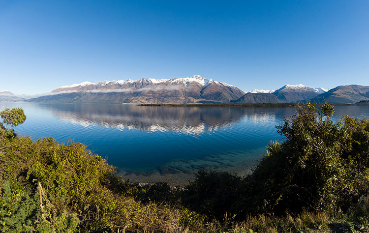 Queenstown to Glenorchy, New Zealand -- beautiful mountain views