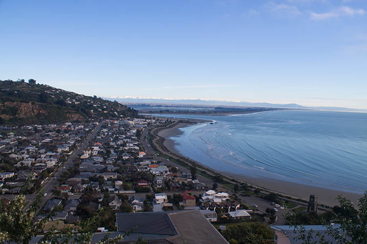 Sumner Beach from above, Christchurch, New Zealand