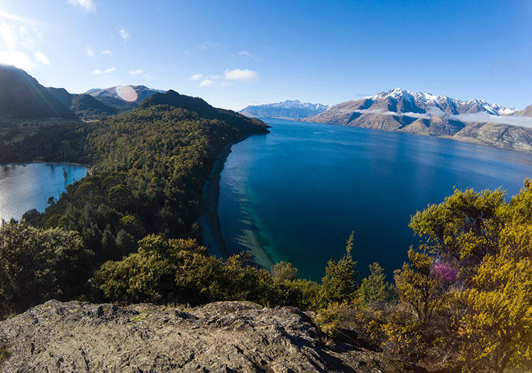 Stunning viewpoint at Bob's Cove, Queenstown, New Zealand