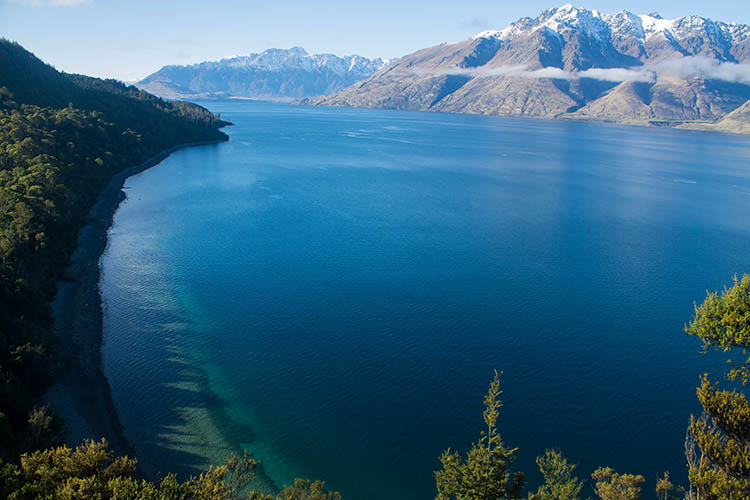 Beautiful view at Bob's Cove, Queenstown, New Zealand