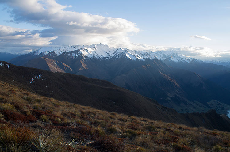 Mountain views while hiking Isthmus Peak, Wanaka, New Zealand