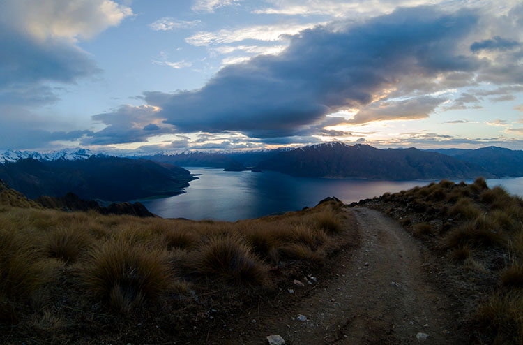 Sunrise on the Isthmus Peak Track, Wanaka, New Zealand