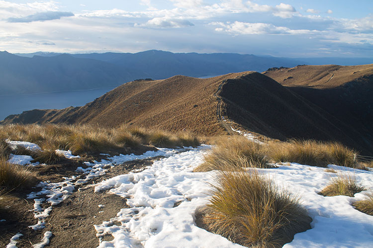 Snow on the Isthmus Peak Track, Wanaka, New Zealand