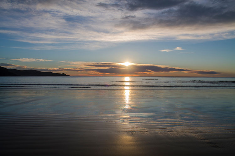 Sunrise at Jack's Bay, the Catlins, New Zealand