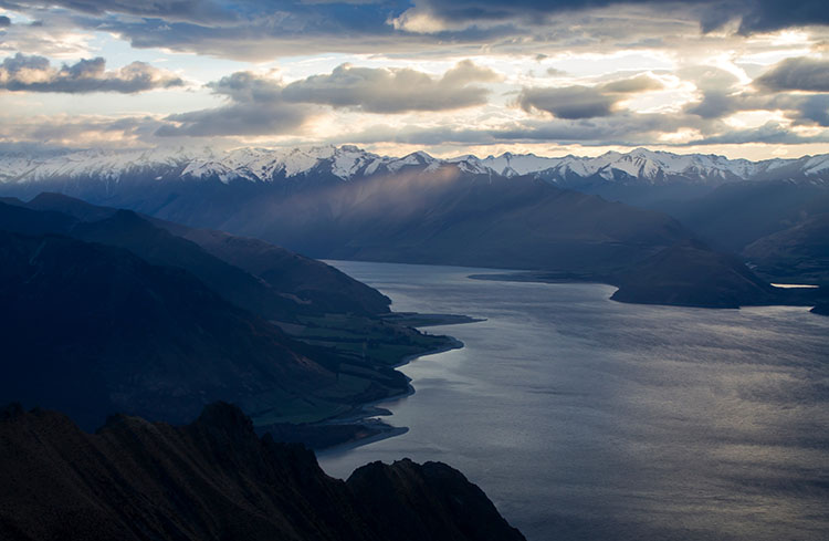 Lake Hawea from the Isthmus Peak Track, Wanaka, New Zealand
