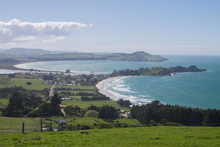 Karitane Beach viewpoint, Dunedin, New Zealand