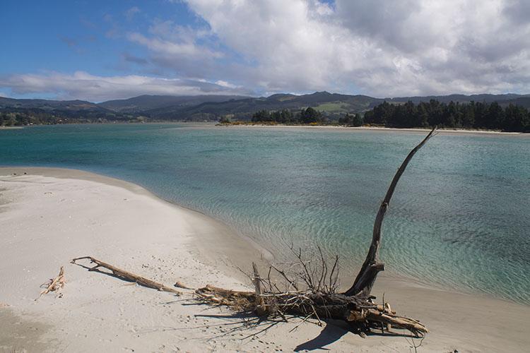 Stunning view of Blueskin Bay, Warrington, Dunedin, New Zealand