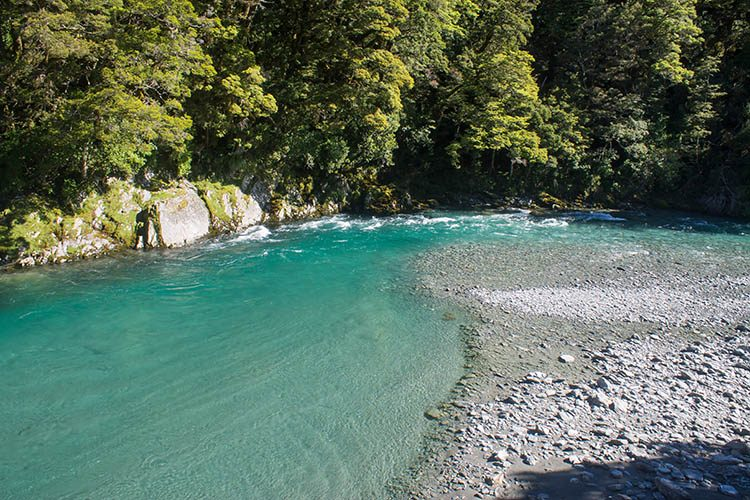 The Blue Pools, Mount Aspiring National Park, New Zealand