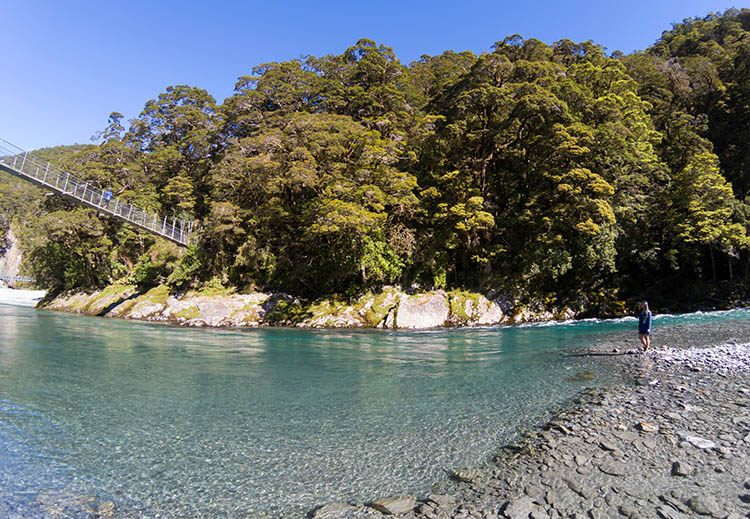 The first set of Blue Pools, Wanaka - Haast, New Zealand