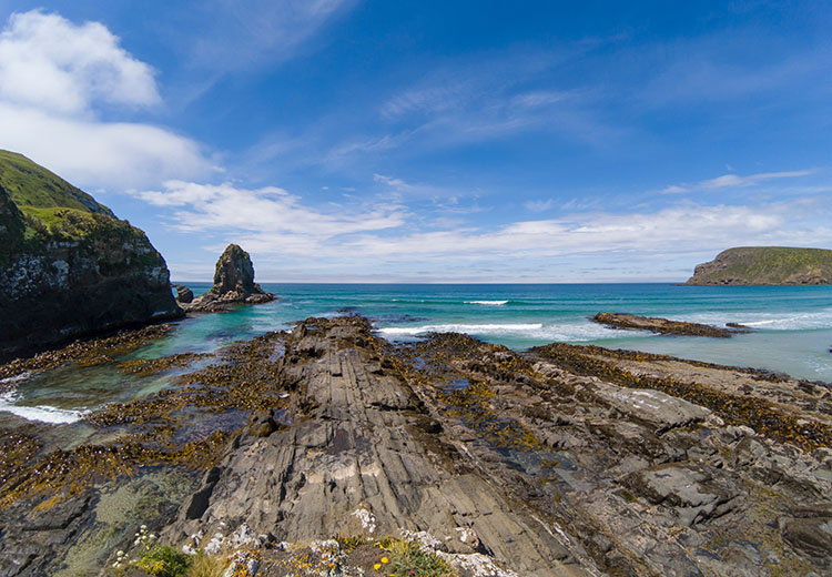Rocks at Cannibal Bay, the Catlins, New Zealand