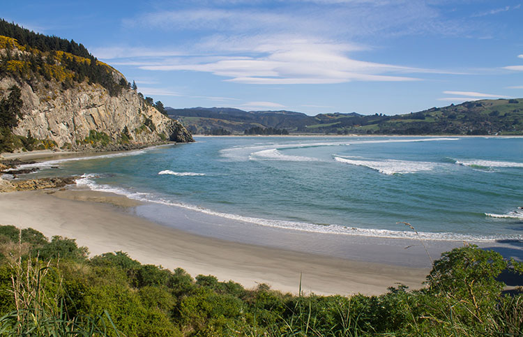 Canoe Beach, Dunedin, New Zealand