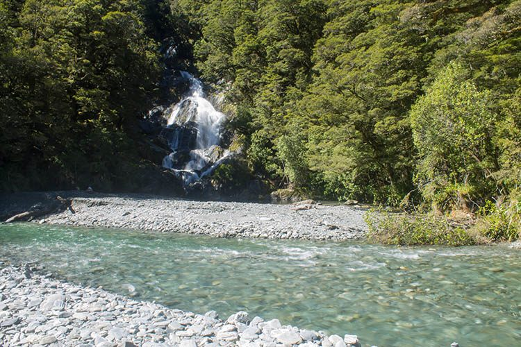 Fantail Falls, Mount Aspiring National Park, New Zealand