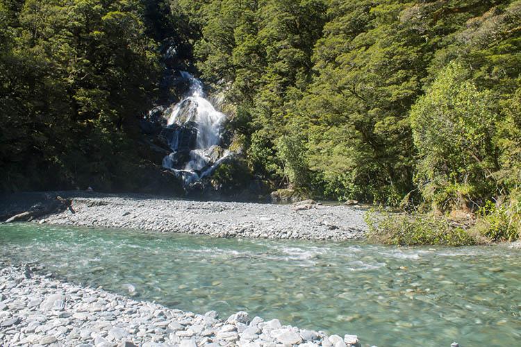 Fantail Falls, Mount Aspiring National Park, New Zealand