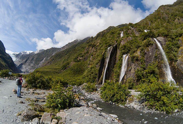 Hiking to Franz Josef Glacier, New Zealand