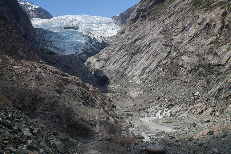 The Franz Josef Glacier viewpoint, West Coast, New Zealand