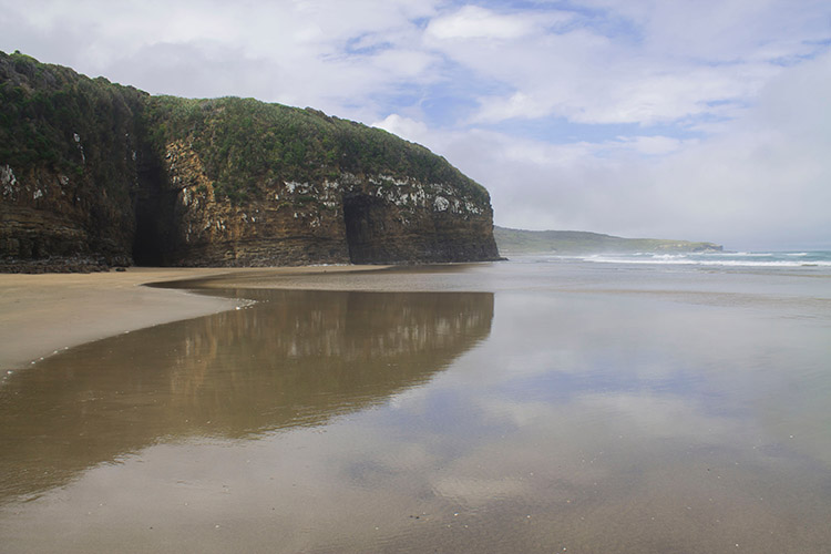 Walking to Cathedral Caves, the Catlins, New Zealand