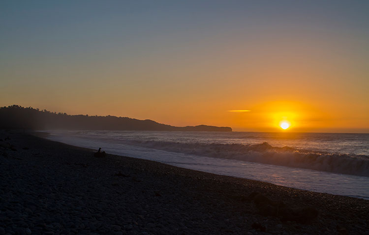 Gillespies Beach sunset, West Coast, New Zealand