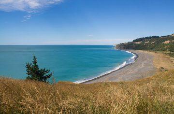 Manuka Bay from above, North Canterbury, New Zealand